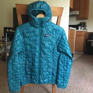 Patagonia Micro Puff Hoody Jacket Teal Puffer
